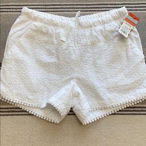 NWT White cotton eyelet shorts